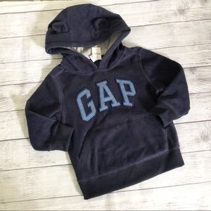 NWT Baby Gap fleece logo hoodie